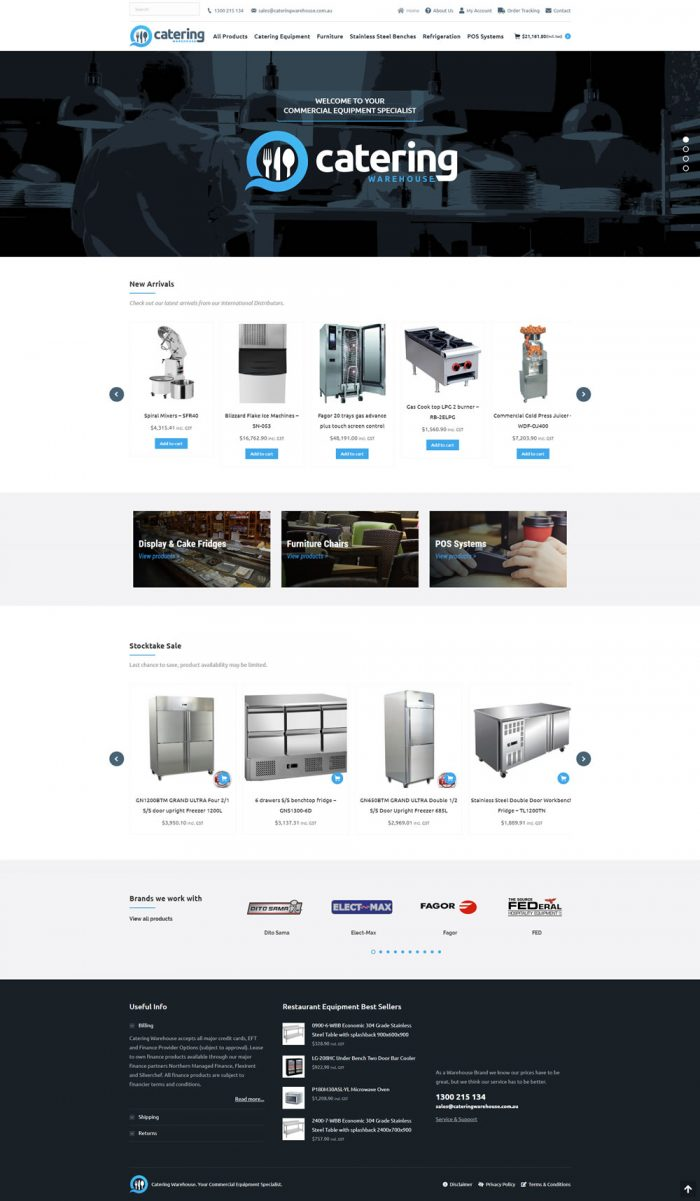 Catering Warehouse Homepage